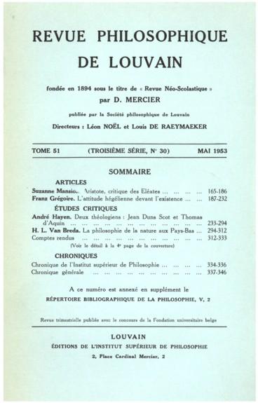 Hartmann Nicolai, Der Denker und sein Werk