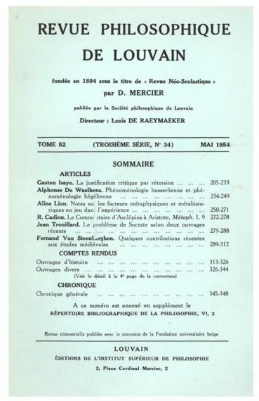H. D. Gardeil, Initiation à la Philosophie de S. Thomas dAquin. Vol. II, Cosmologie