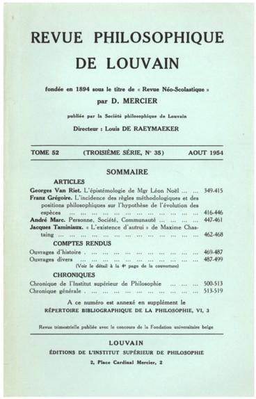 V. Goldschmidt, Le système stoïcien et lidée de temps