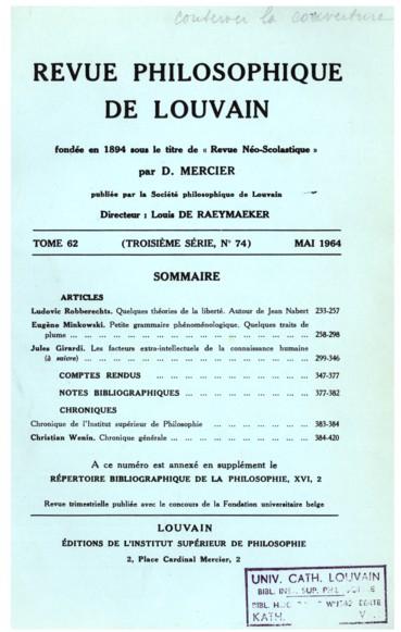 Henri Batiffol, La philosophie du droit