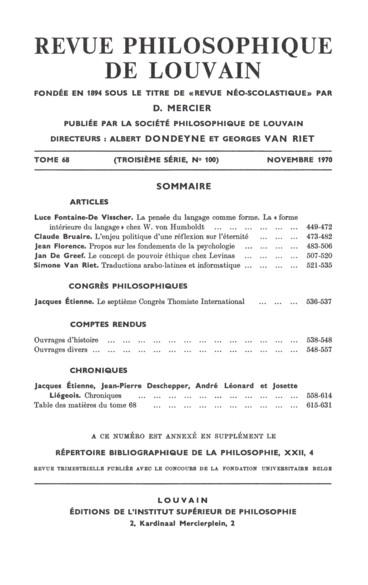 Georges Nossent, Joie, souffrance et vie morale