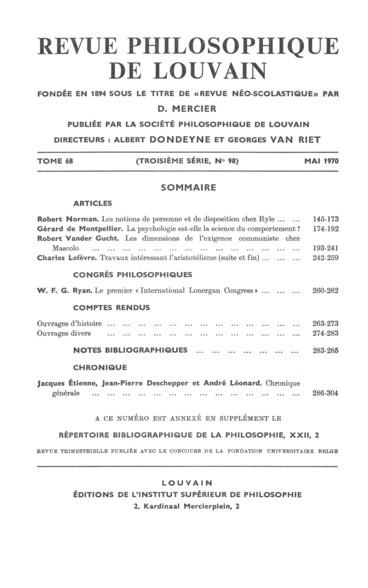 Georges Mourélos, Bergson et les niveaux de réalité