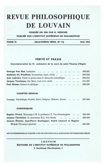 André Tange, Analyse psychologique de lÉglise
