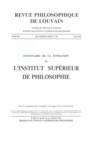 Philosophie ancienne et médiévale