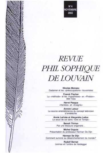 Lévinas et lombre de Heidegger
