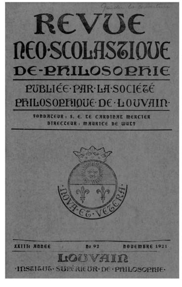 Table des matières pour lannée 1921