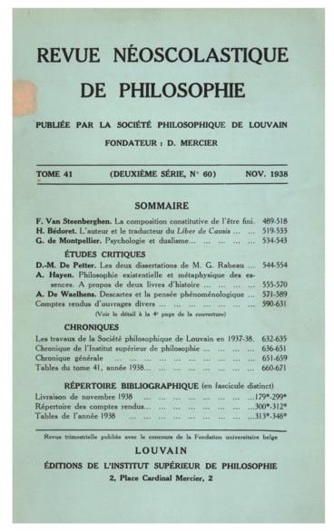 E. De Bruyne, Ethica, III, De diepere Zin van de zedelijkheid