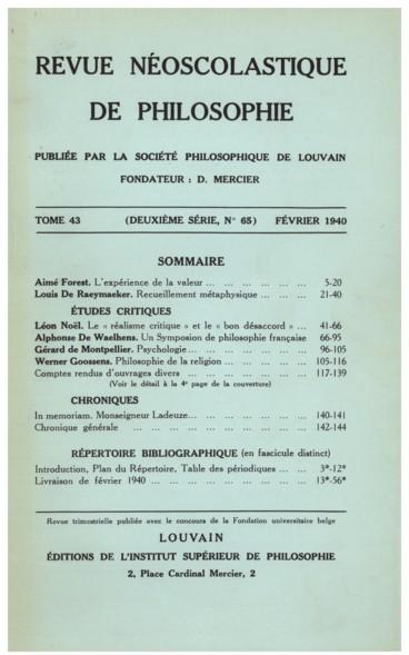 Bernhard Rosenmöller, Religionsphilosophie, 2e edit. revue