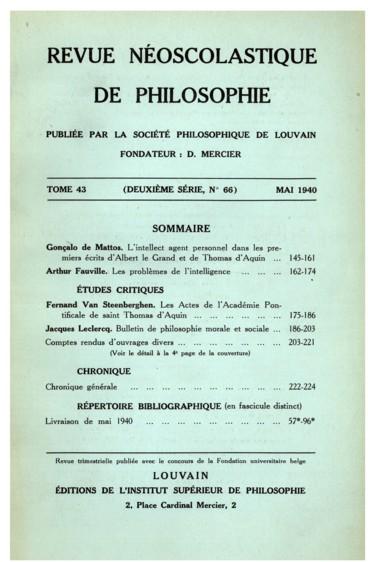 Les Actes de lAcadémie Pontificale de saint Thomas dAquin
