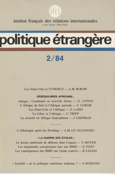 Les Problemes De Securite En Afrique Francophone Persee