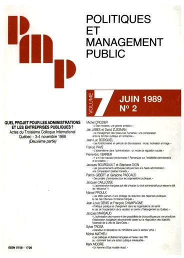 0fda6bb1c60a76 Des projets d entreprise pour les organisations publiques - Persée