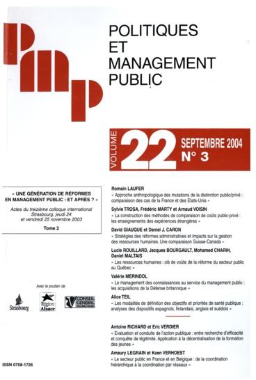 0aa419da5e3 Stratégies des réformes administratives et impacts sur la gestion ...