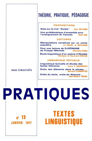 A Propos Dun Poème Dobaldia Pour Une étude Linguistique