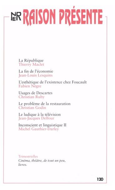 L'esthétique de l'existence dans le dernier Foucault - Persée