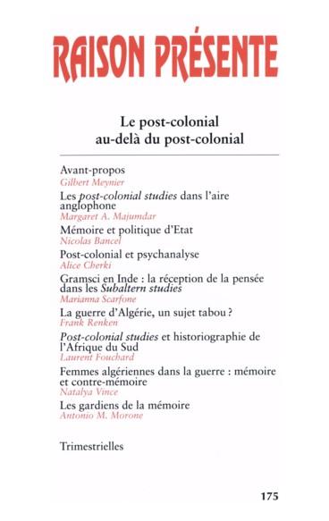 Post-colonial studies» et historiographie de l'Afrique du