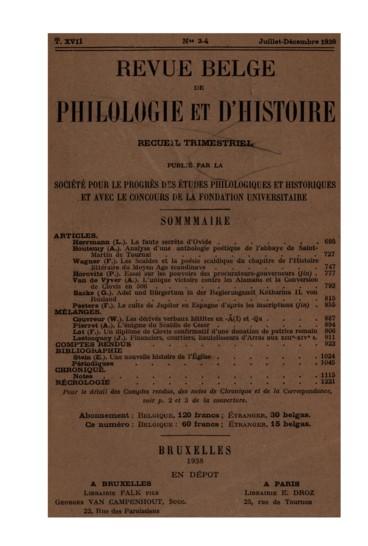 Polet Amédée. Une gloire de lhumanisme belge : Petrus nius 1500-1557