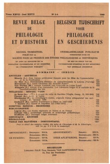 Jean Gerson prédicateur français pour les fêtes de lAnnonciation et de la Purification