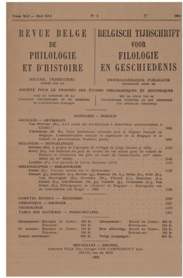 A propos de lépitaphe de lévêque de Liège, Durand † 1025
