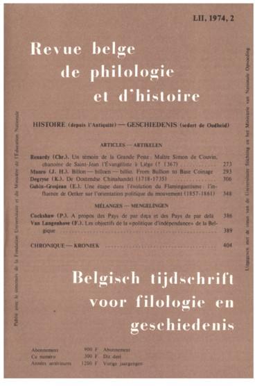 Monasticon belge, t IV : Province de Brabant, 5e vol