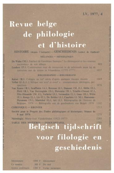 Sigebert de Gembloux faussaire Le chroniqueur et les « sources anciennes » de son abbaye