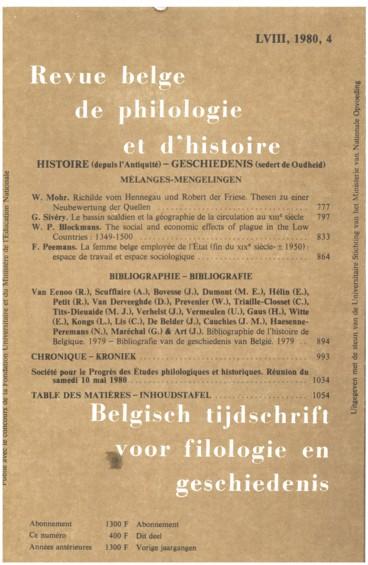 Bibliographie de lhistoire de Belgique — Bibliografie van de geschiedenis van België. 1979