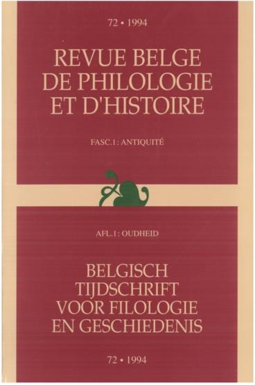 Etrusco zavena   Revue belge de philologie et d'histoire