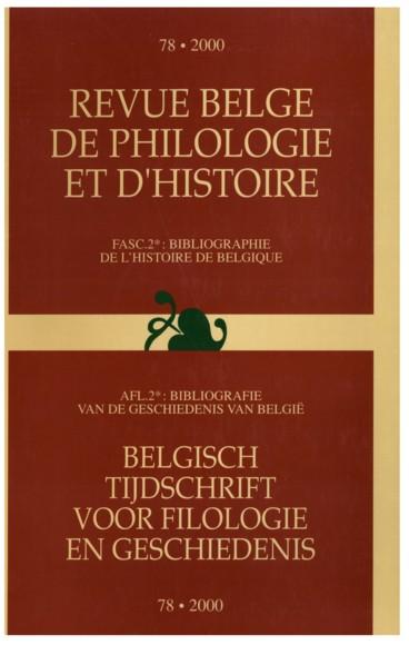 II. Inhoudstafel    Revue belge de philologie et d'histoire