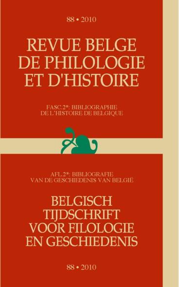 Inhoudstafel    Revue belge de philologie et d'histoire