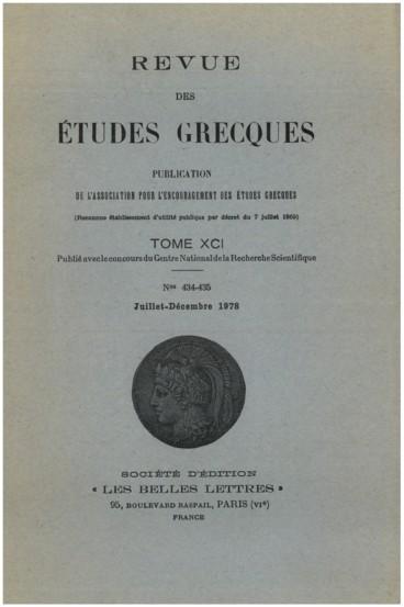 Bulletin épigraphique Persée