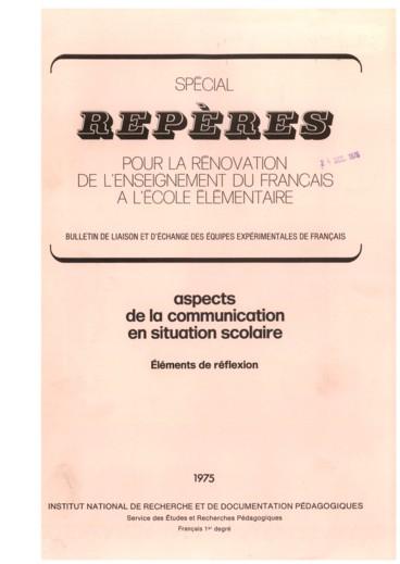 Analyse De La Communication Dans Une Classe De Cm1 à Rennes