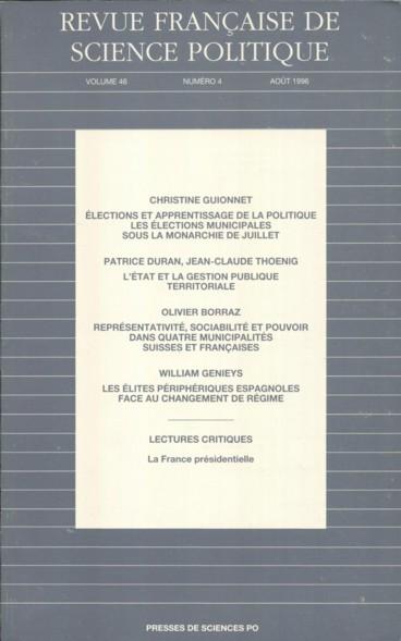Elections Et Apprentissage De La Politique Les Elections