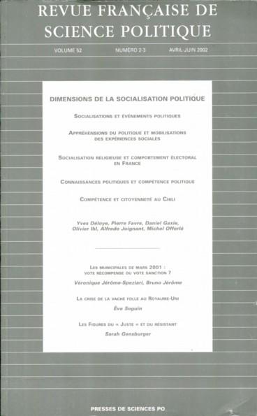 comp u00e9tence et citoyennet u00e9  les pratiques sociales de civisme ordinaire au chili ou les logiques