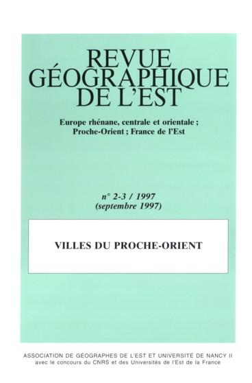 Revue G U00e9ographique De L U0026 39 Est  Tome 37  N U00b02