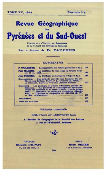 Nos collaborateurs    Revue géographique des Pyrénées et du Sud-Ouest