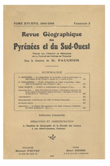 Ouvrages reçus    Revue géographique des Pyrénées et du Sud-Ouest