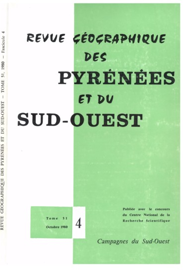 Pierre Barthe   Revue géographique des Pyrénées et du Sud-Ouest