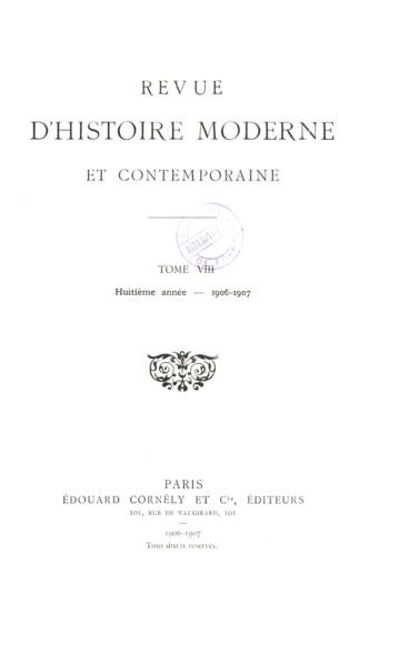 Les Cahiers De 1789 Et Leur Valeur Persee