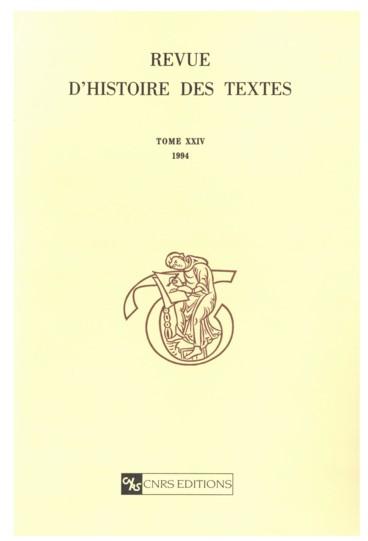 Les Manuscrits Recents Du Livre I Et L Epitome Des Antiquites