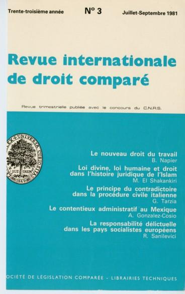 La Responsabilite Civile Delictuelle Dans Les Codes Civils Des Pays