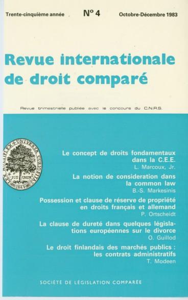 Possession Et Clause De Reserve De Propriete En Droits Francais Et