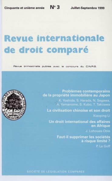 L Apparition D Un Droit International Des Affaires En Afrique Persee