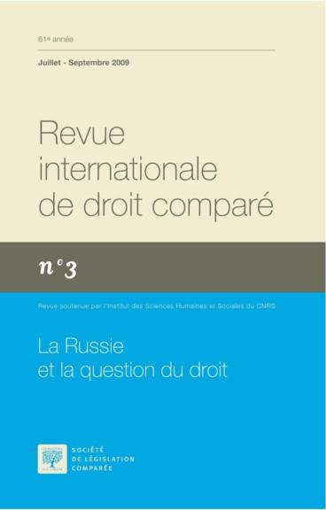 Histoire Et Esprit Du Code Civil Russe Persee