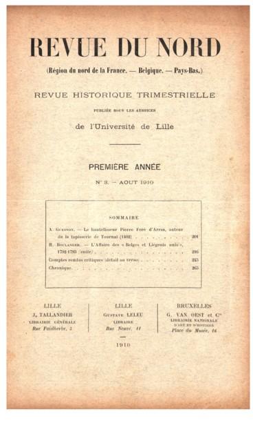 L' Affaire des « Belges et Liégeois unis », (1792-1793) - Persée