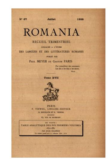 Appunti Sul Roman De Galerent Persée