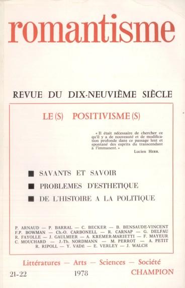 D Auguste Comte A Claude Bernard Un Positivisme Deplace Persee