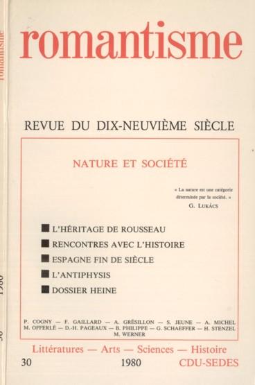 Evolution Et Fonction Critique Du Concept De Nature Dans La