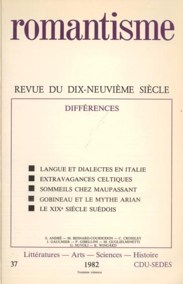 Littérature Romantique peuple » et « nation » : notes sur la littérature dialectale
