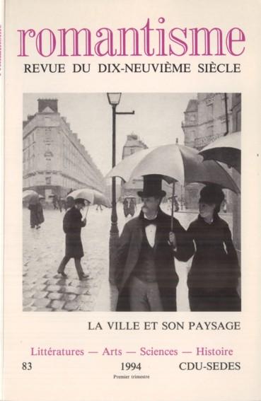Littérature Romantique représentations sociales et littéraires de paris à l'époque