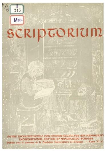 Deutsches Schriftum Zur Lateinischen Paläographie Und