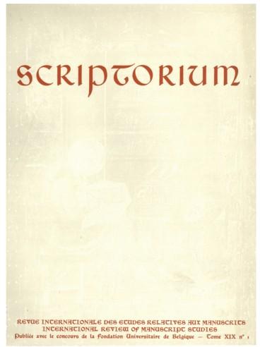 Corpus Christianorum - Persée